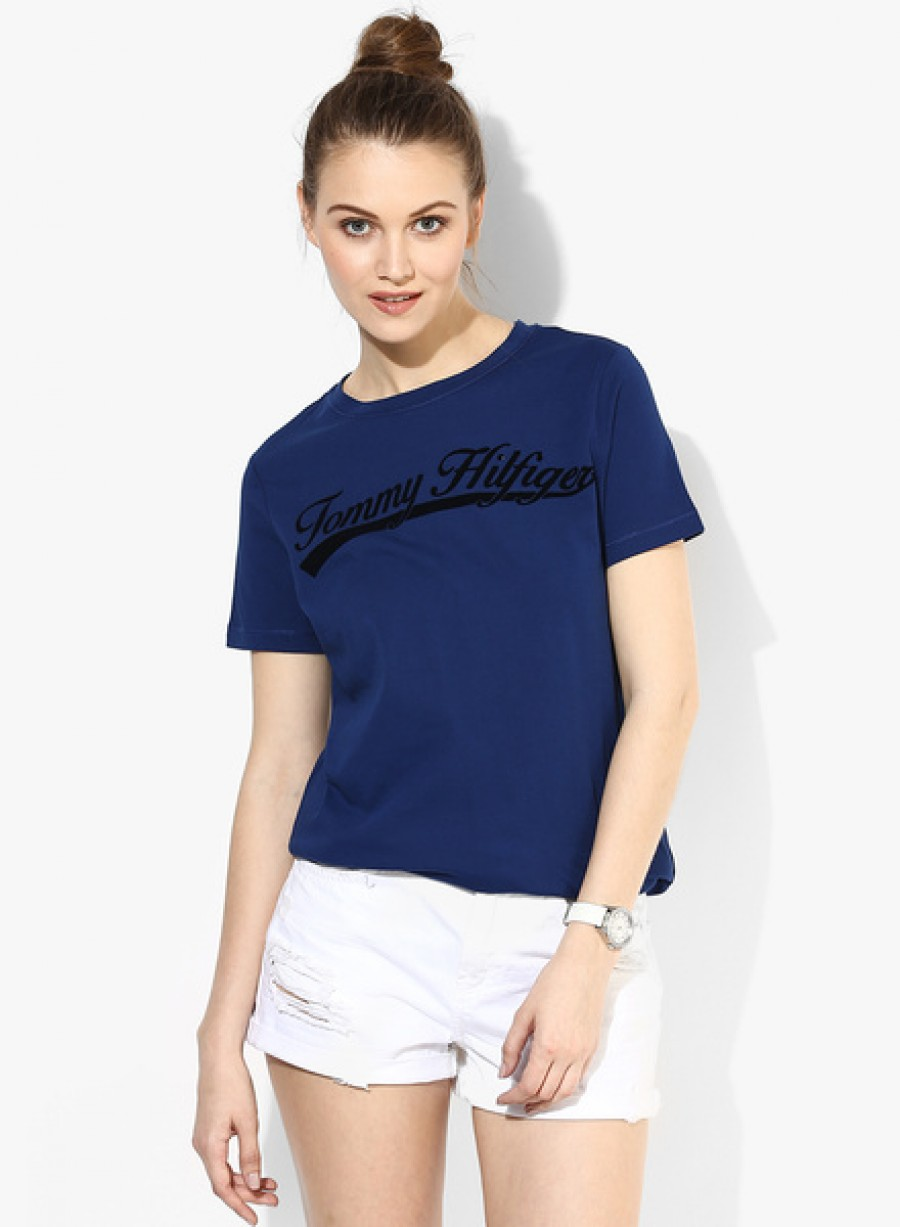 Buy Tommy HilfigerBlue Printed T Shirt Online