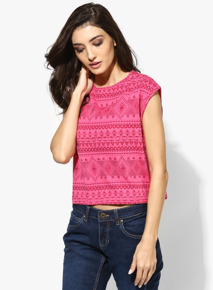 Buy Pepe JeansPink Printed T Shirt Online