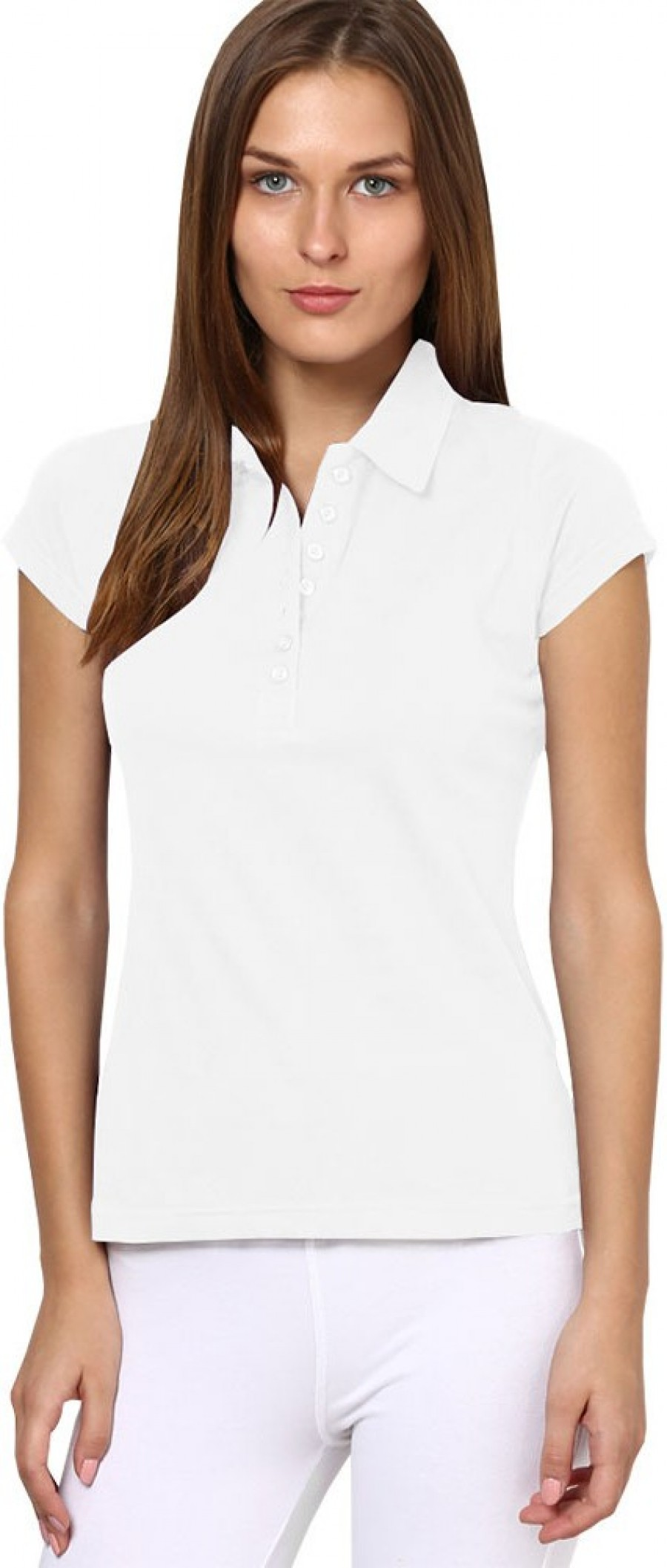 Buy Softwear Solid Women Polo White T Shirt Online
