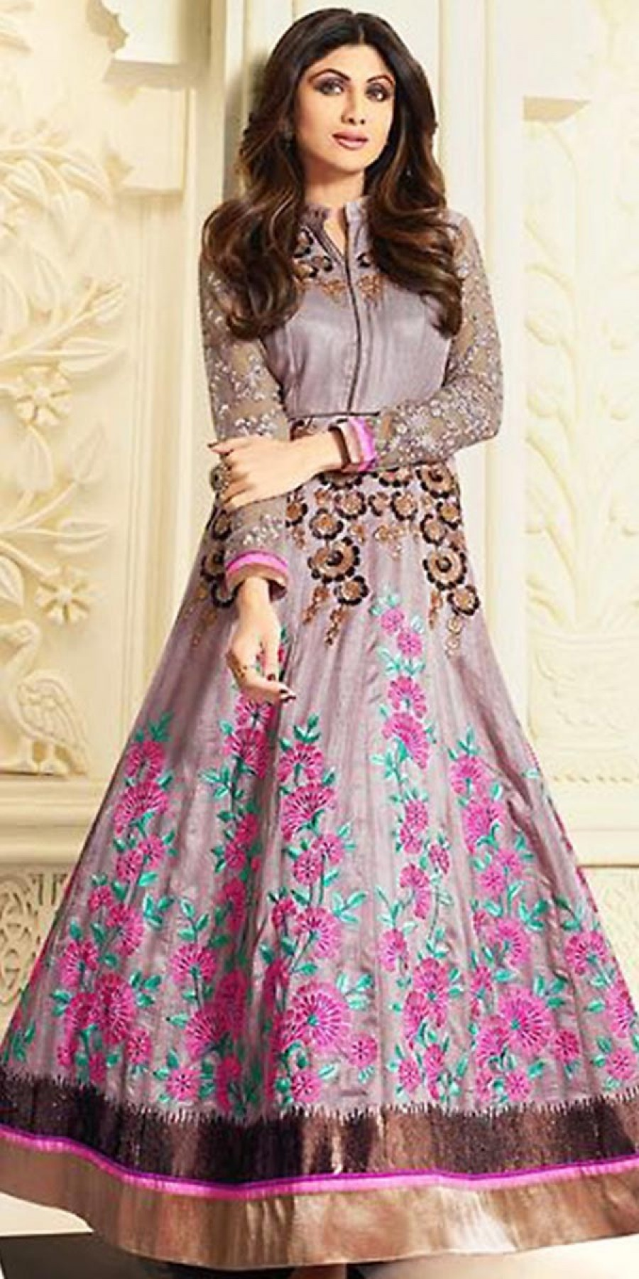 Buy Shilpa Shetty Lehenga Suit in Purple Color. Online