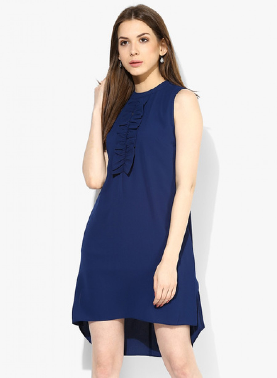 Buy Dorothy Perkins Navy Blue Ruffle Shift Dress Online