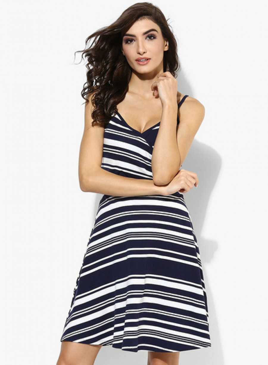 Buy Dorothy Perkins Navy Ivory Wrap Cami Dress Online