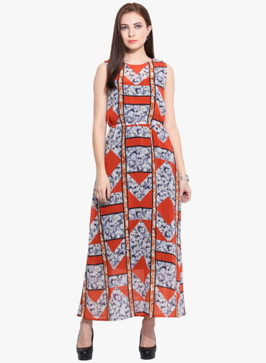 Buy Instacrush Multicoloured Printed Maxi Dress Online