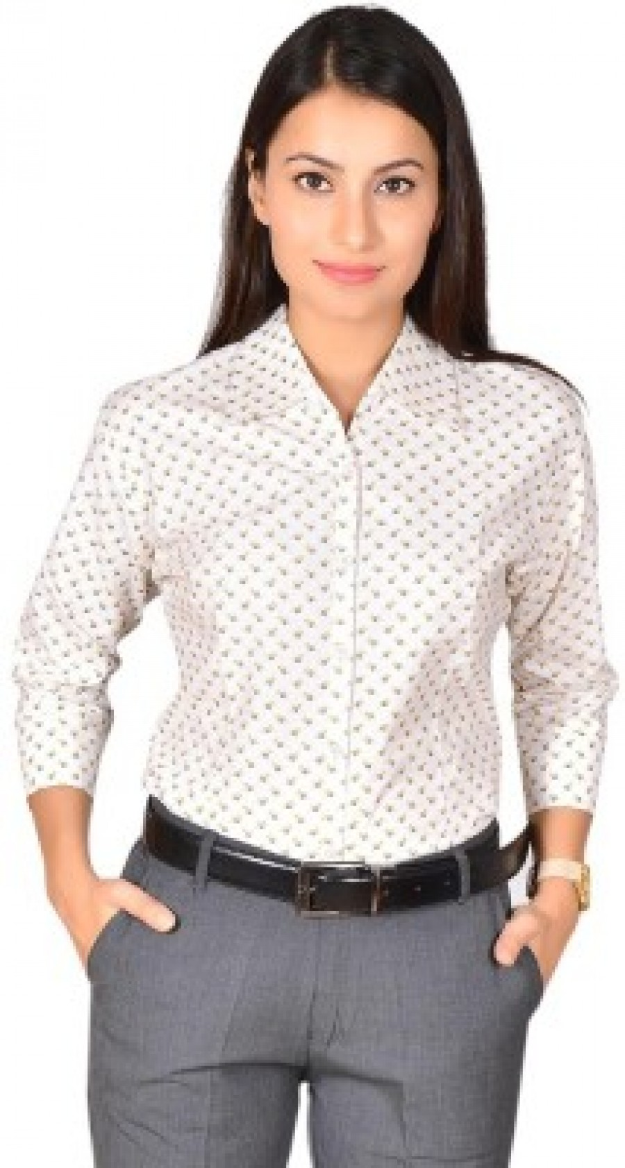 Buy LGC Womens Printed Formal Casual Party Lounge Wear White Shirt Online