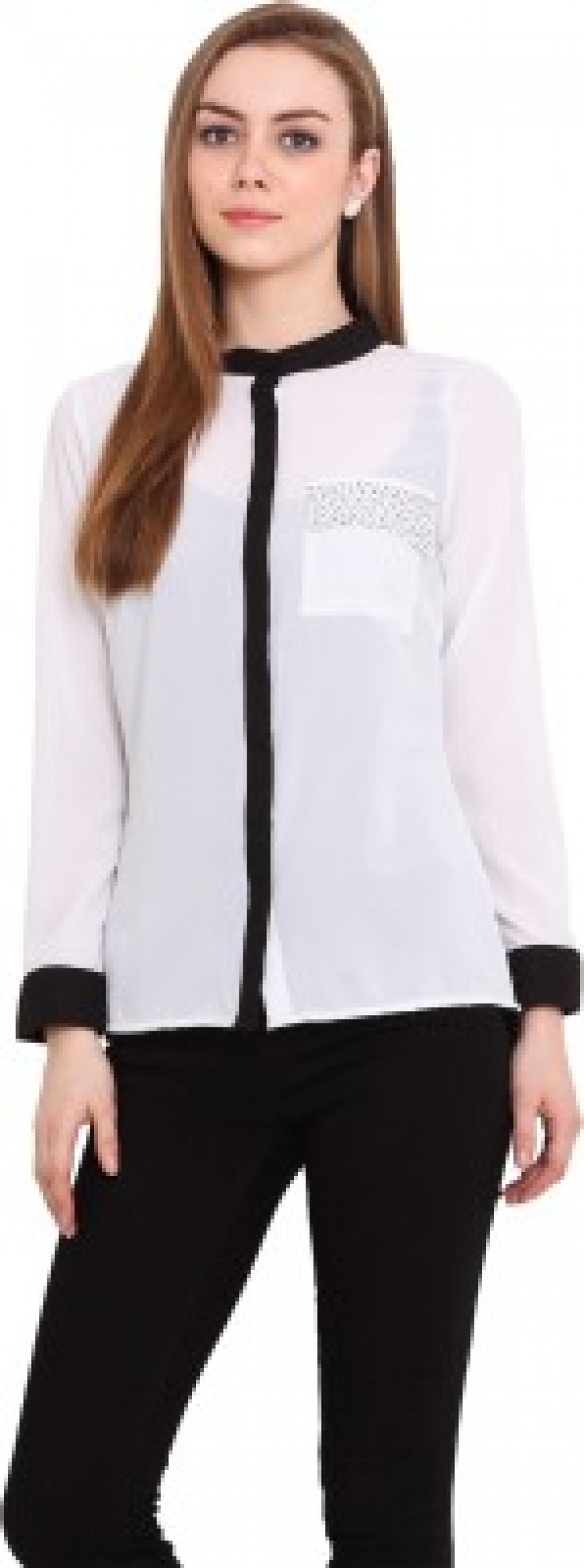 Buy Blink Womens Solid Casual White Shirt Online
