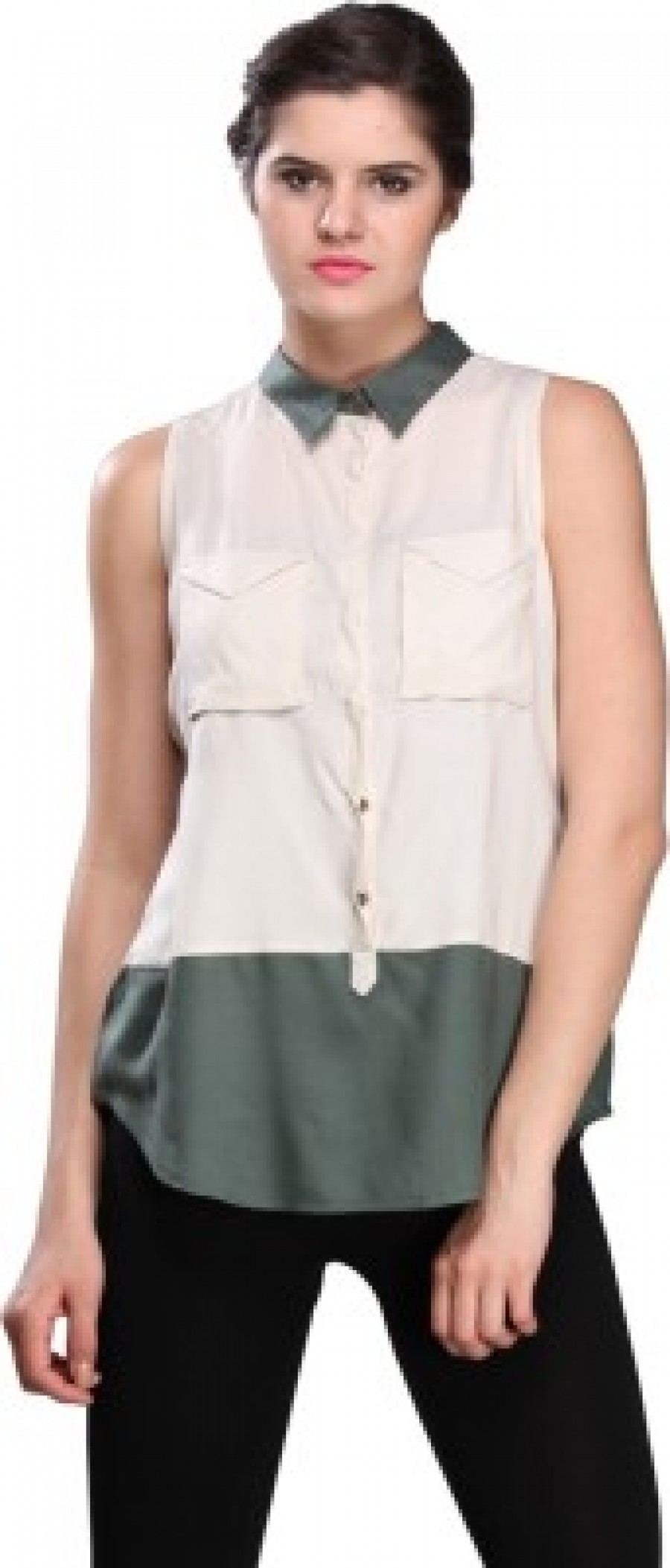 Buy Nineteen Womens Solid Casual White Shirt Online
