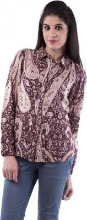Buy Aarr Womens Paisley Casual Brown Shirt Online