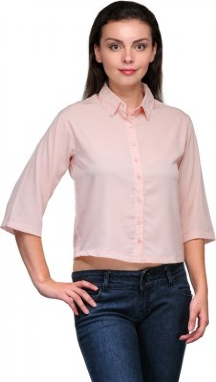Buy Zachi Womens Solid Casual Pink Shirt Online