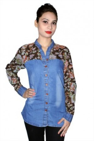 Buy Cherry Clothing Womens Printed Casual Brown Shirt Online