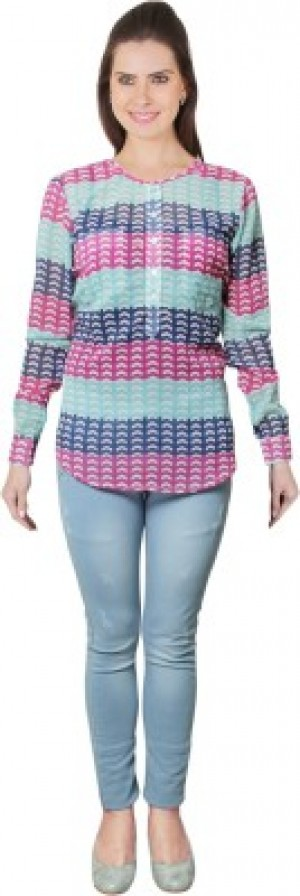 Buy E Syrus Womens Graphic Print Casual Multicolor Shirt Online