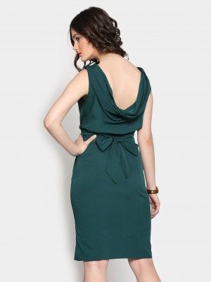 Buy abof Women Emerald Green Sheath Dress Online