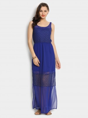 Buy abof Women Twilight Blue Maxi Dress Online