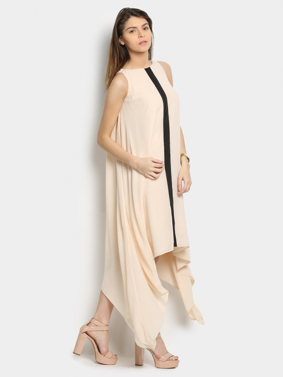 Buy abof Women Beige A-line Party Dress Online