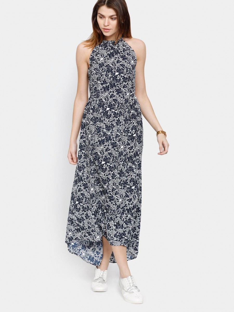 Buy Femella Women Navy Printed Maxi Dress Online