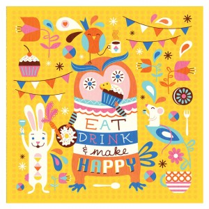 Buy Make Happy Wall Art - Yellow Online