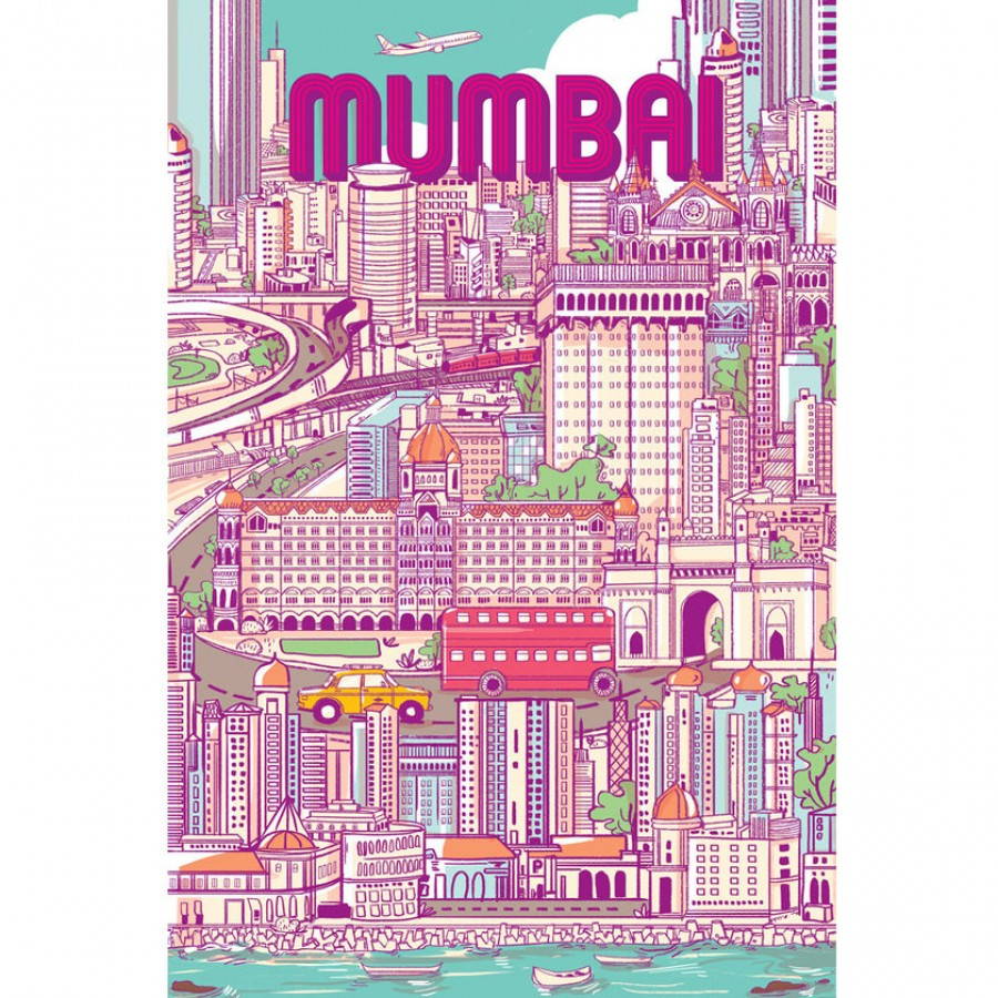 Buy City Of Dreams Wall Art - Pink Online