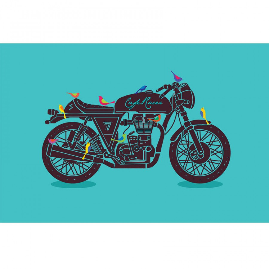 Buy Cafe Racer Wall Art - Blue Online
