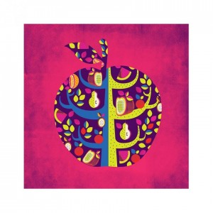 Buy Square Apple Pink Wall Art Online