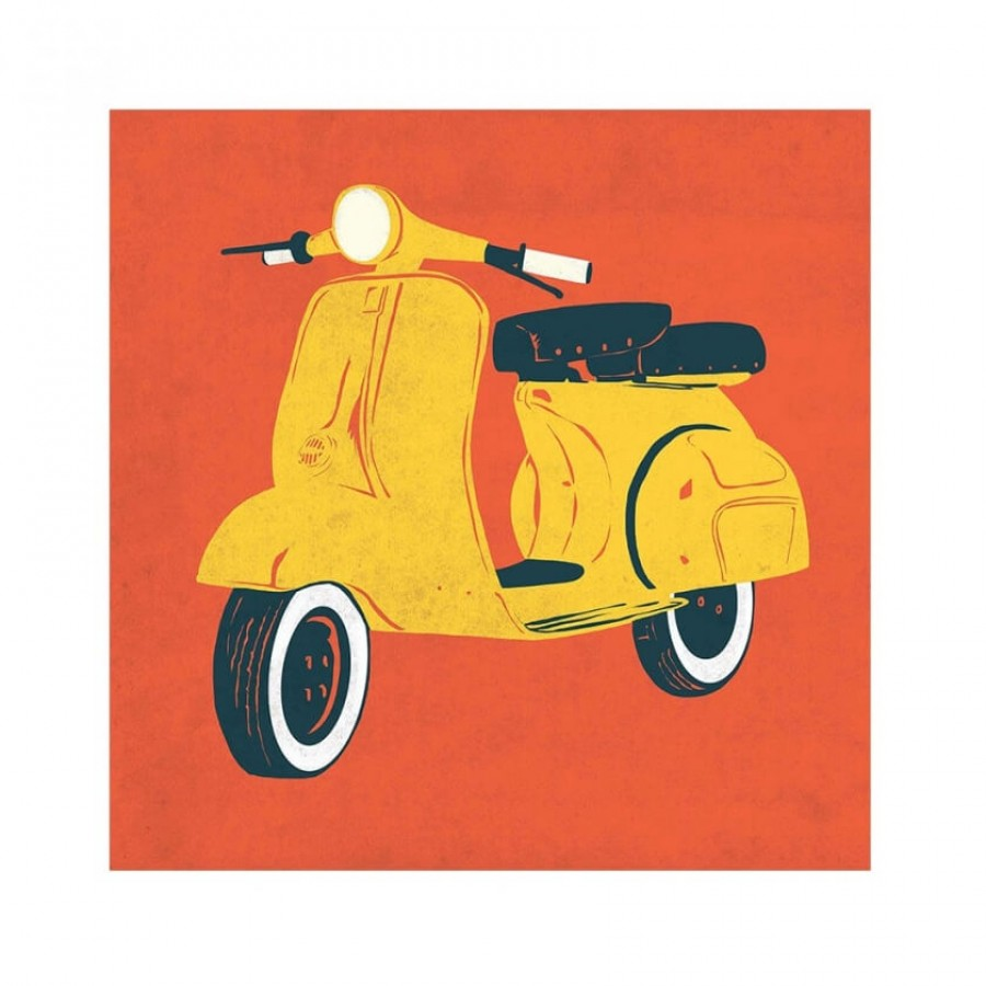 Buy Scooter Red Wall Art Online
