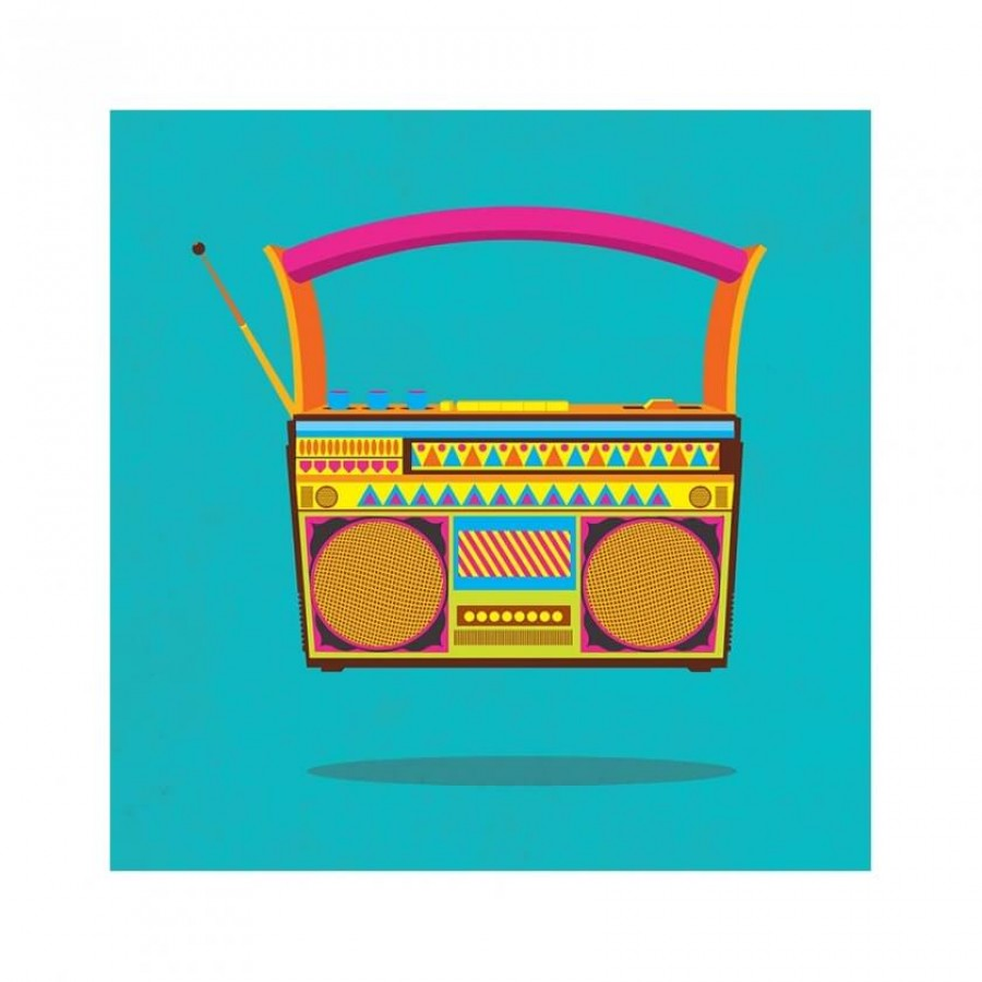 Buy Radio Blue Wall Art Online