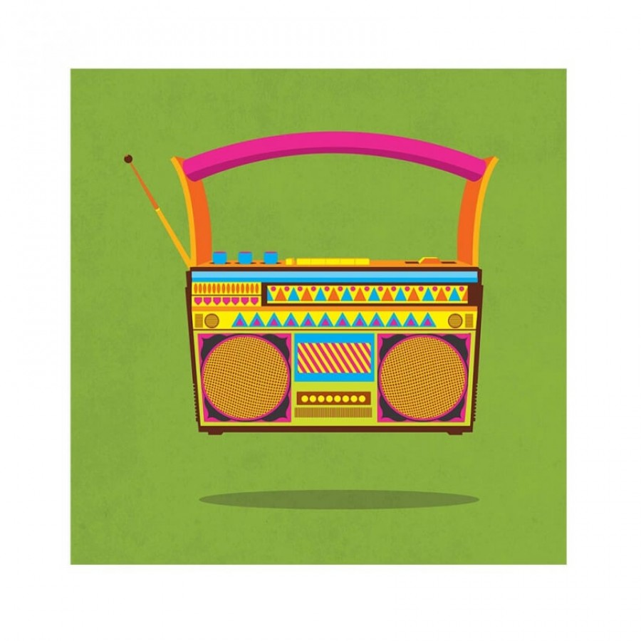 Buy Radio Green Wall Art Online