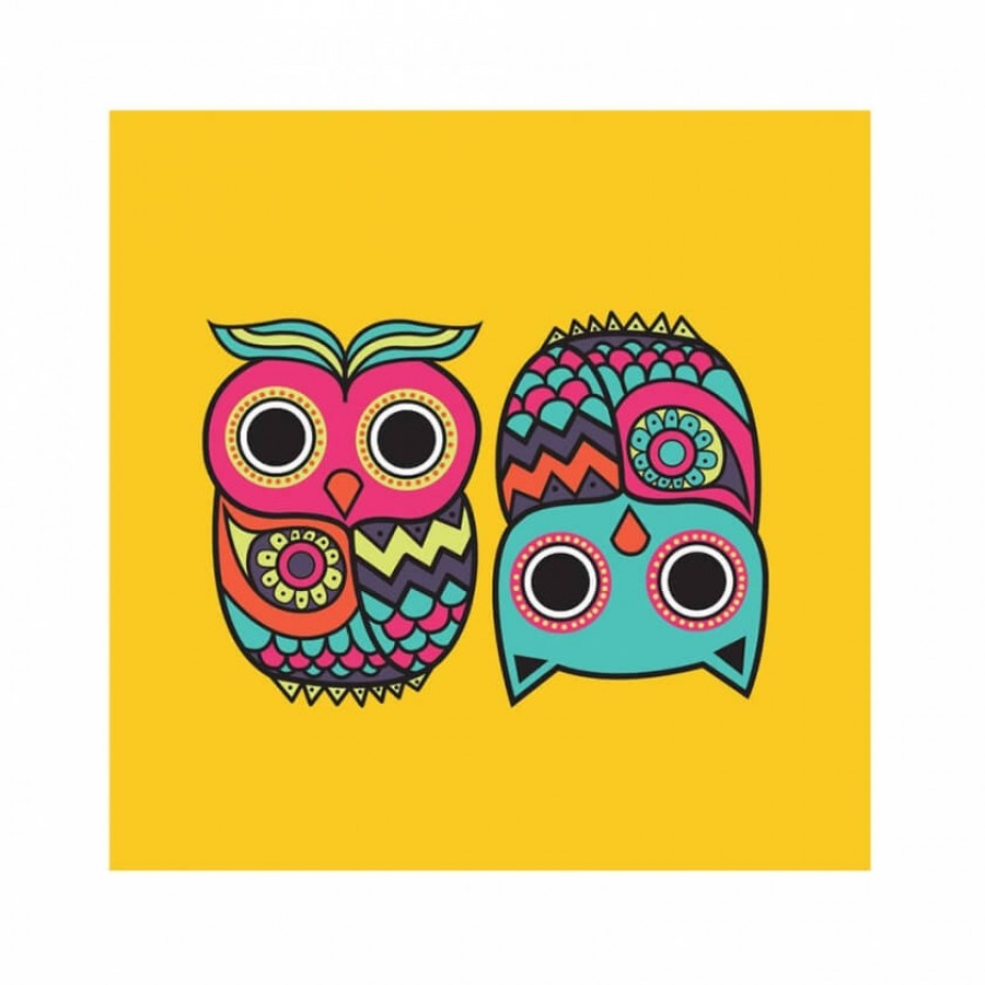 Grab |Owl Yellow Wall Art at best price | 509652