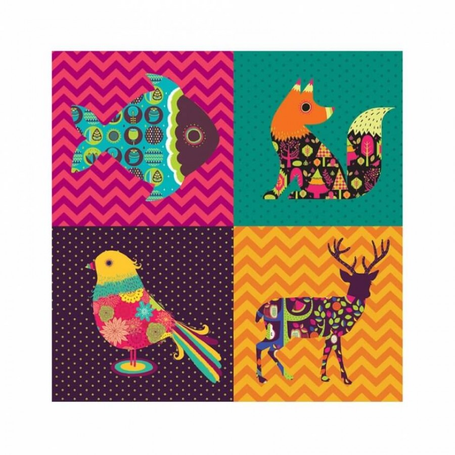 Buy Four Animals Wall Art Online