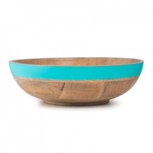 Buy Colour Block Teal Salad Bowl Online