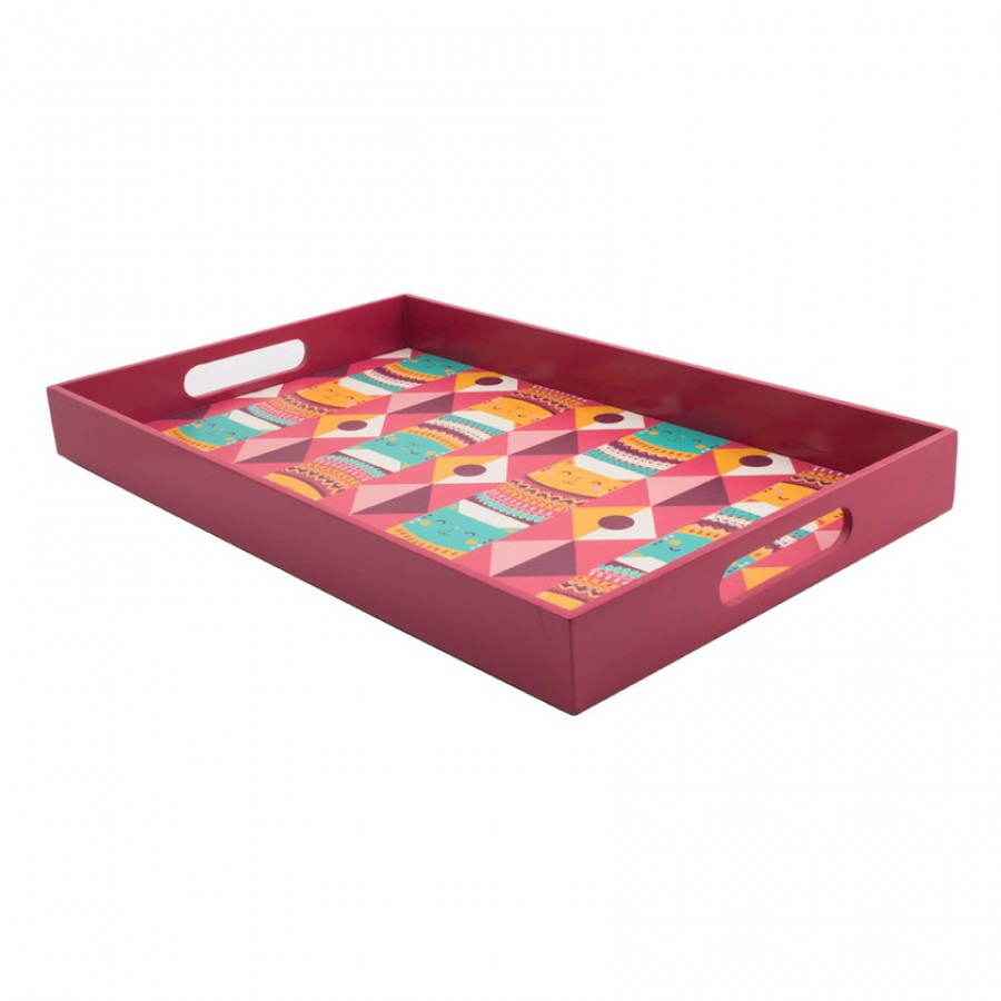 Buy Aztec Cats Rectangle Tray Online