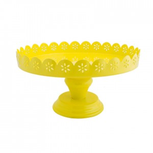 Buy Dainty Doily Yellow Cake Stand Online