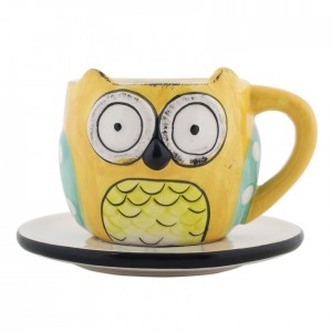 Buy Wide Eyed Owl Cup & Saucer Online