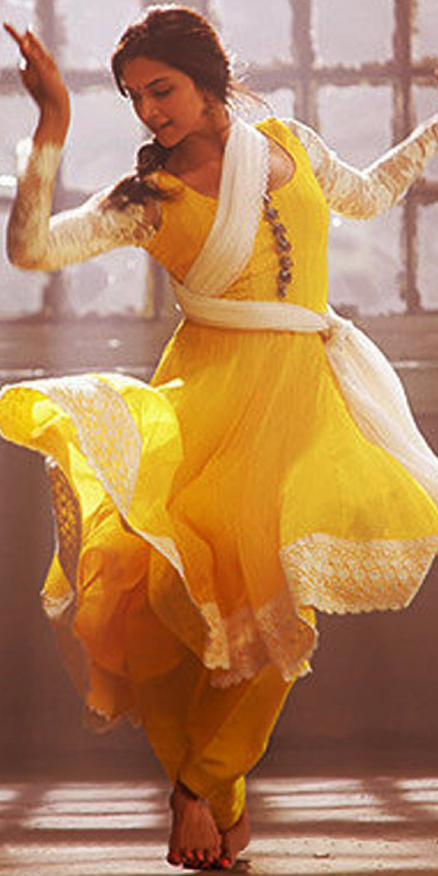 Buy Trendy Yellow And White Desinger Anarkali Suit With Dupatta. Online