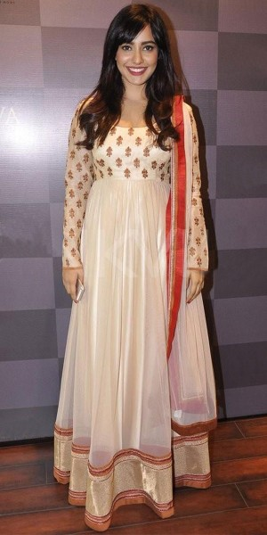 Buy Pleasing Cream And Red Desinger Anarkali Suit With Dupatta. Online