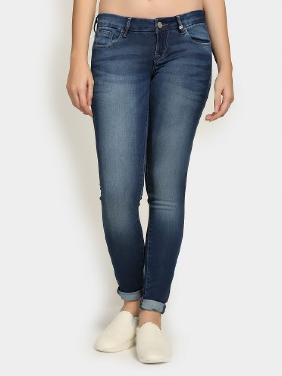 Buy Lee Women Donna Navy Regular Fit Jeans Online