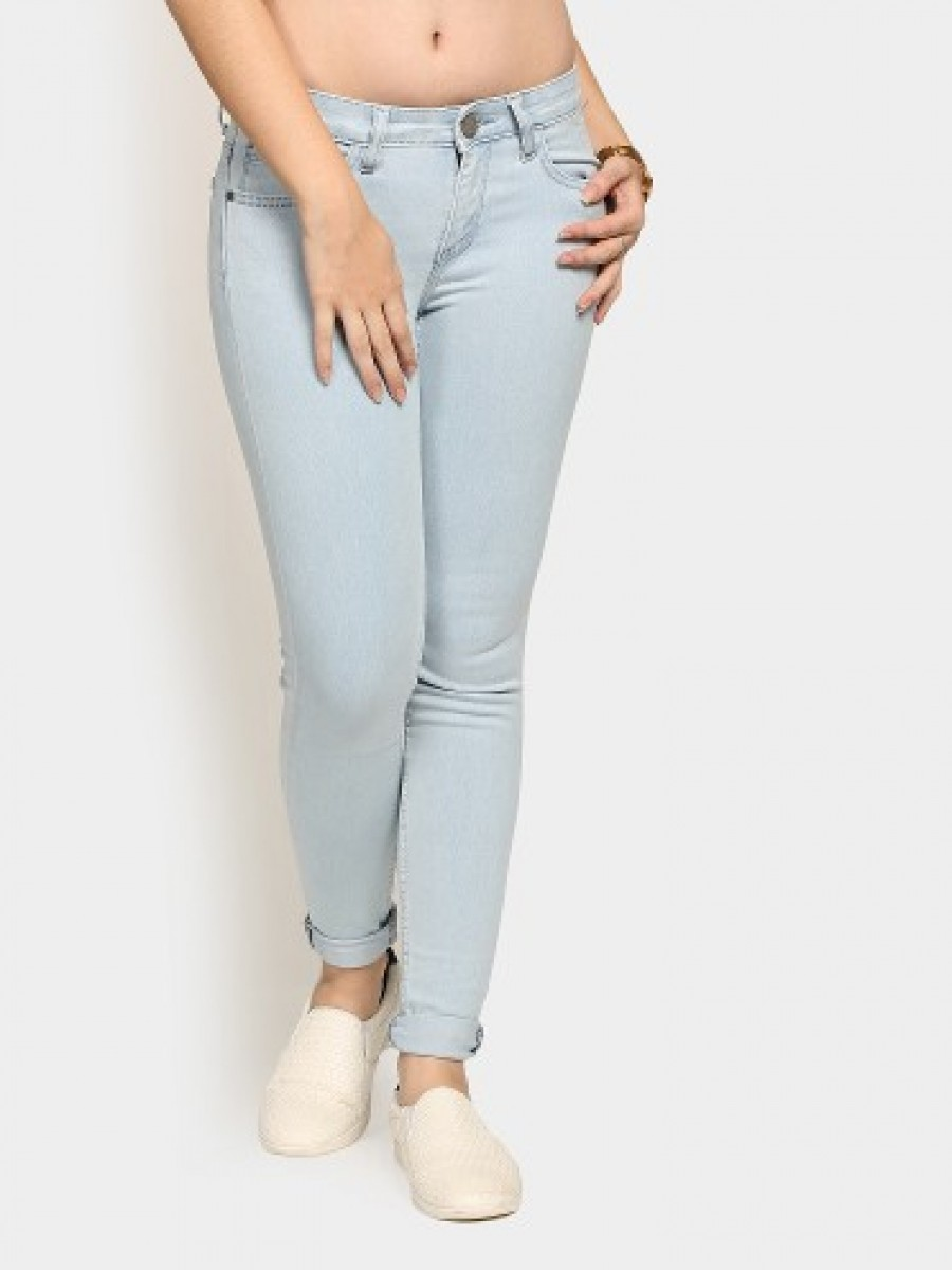 Buy Tokyo Talkies Women Light Blue Regular Fit Jeans Online
