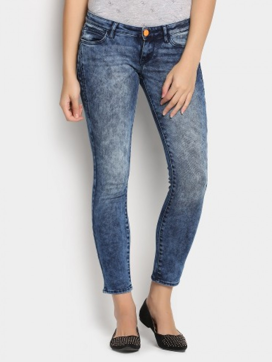Buy Lee Women Indigo Blue Skinny Fit Jeans Online
