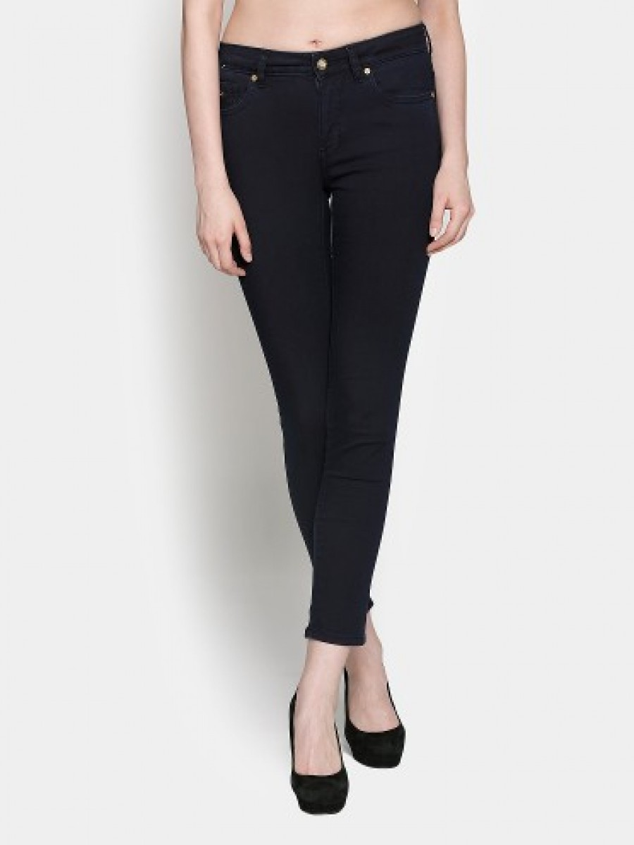 5d922d97f1 Get Only Women Dark Blue Skinny Fit Stretchable Jeans at best price ...