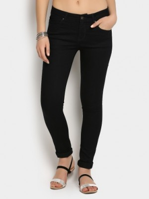 Buy SF Jeans by Pantaloons Women Black Super Skinny Fit Jeans Online