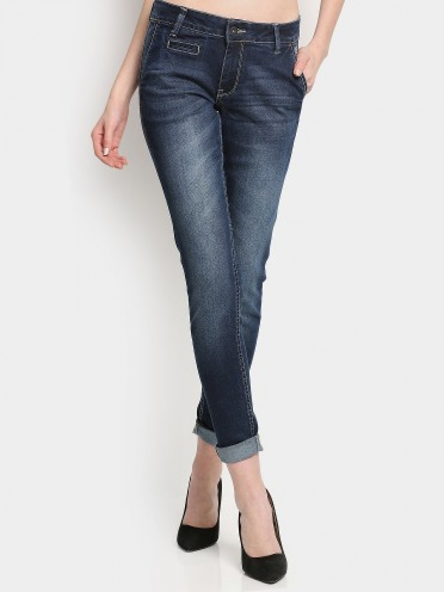 Buy Pepe Women Dark Blue Regular Fit Jeans Online