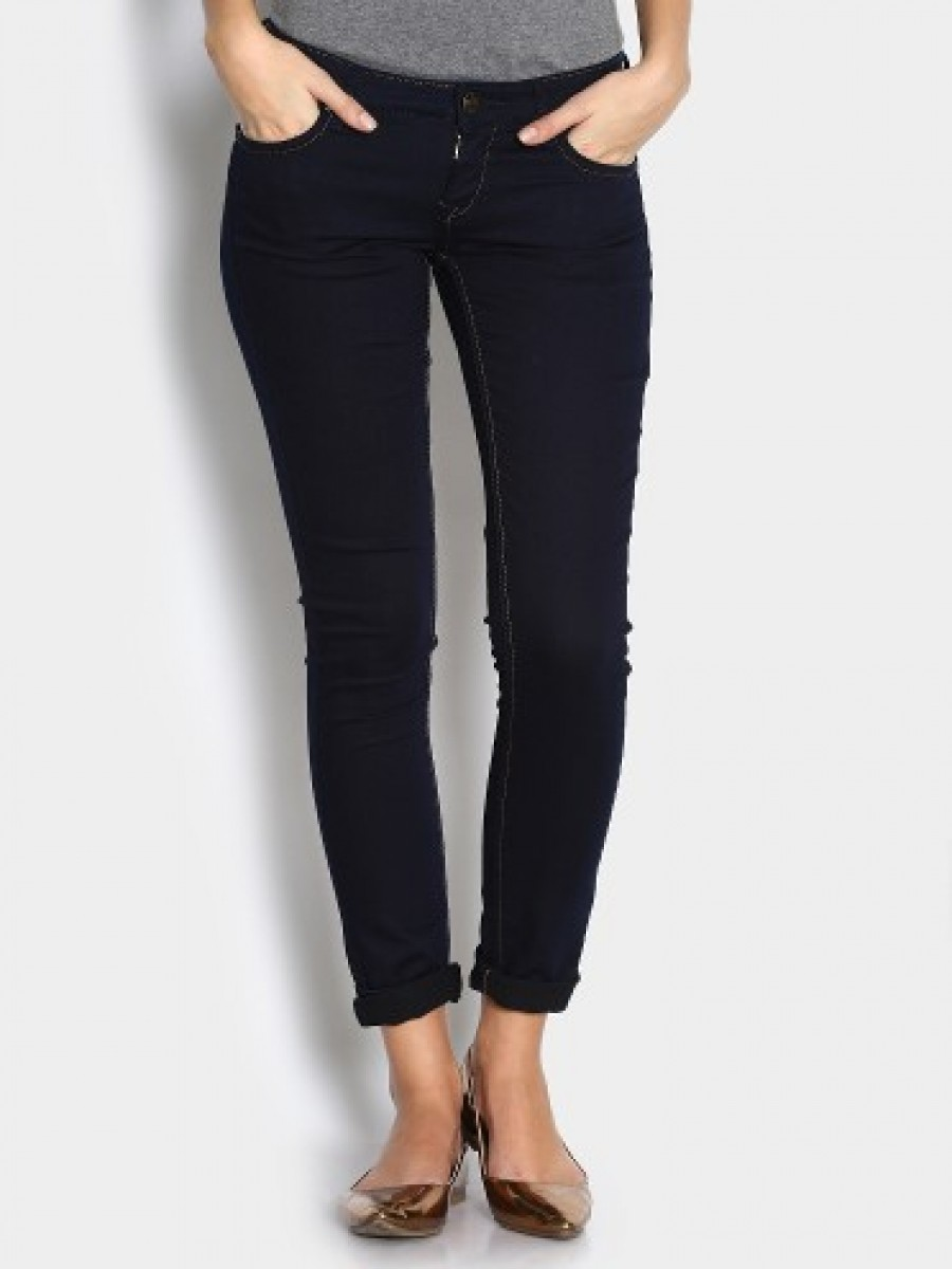 Buy Lee Women Dark Blue Amy Relaxed Fit Jeans Online