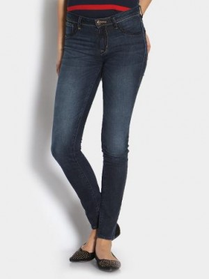 Buy Lee Women Dark Blue Linda Skinny Fit Jeans Online
