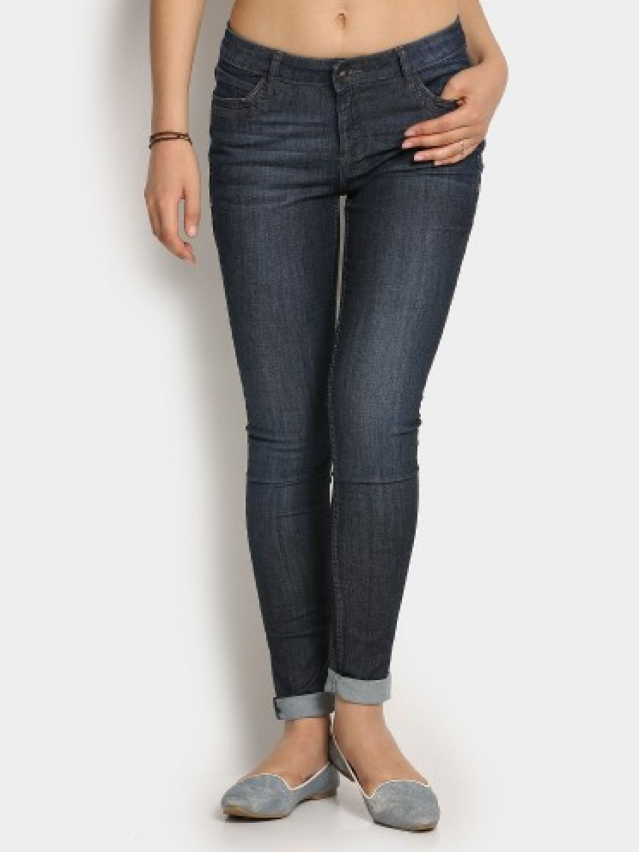 Buy Bare Denim by Pantaloons Women Blue Regular Fit Jeans Online