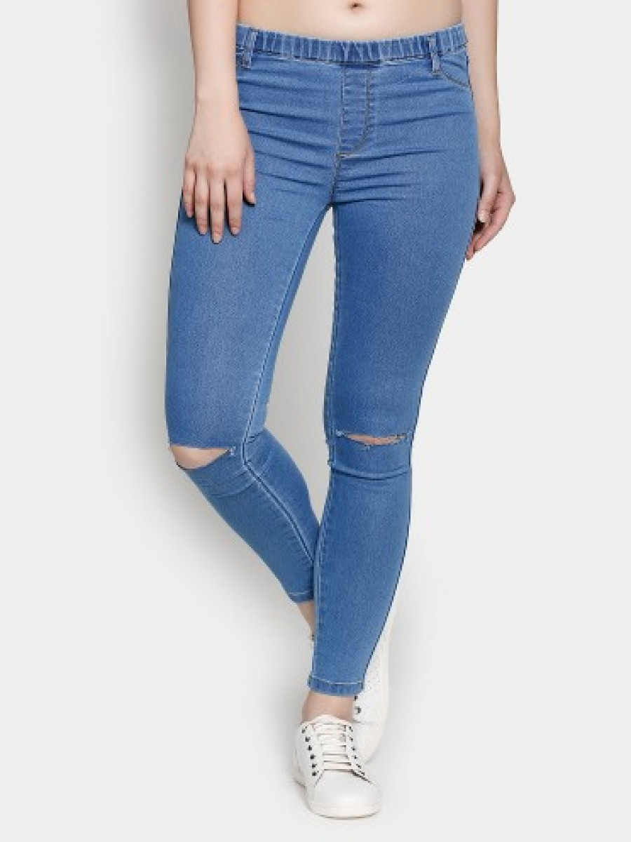 Buy abof Women Blue Skinny Fit Jeggings Online