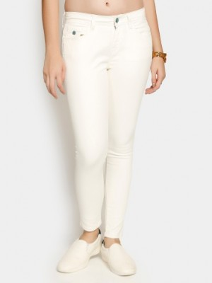 Buy Only Women White Skinny Fit Jeans Online
