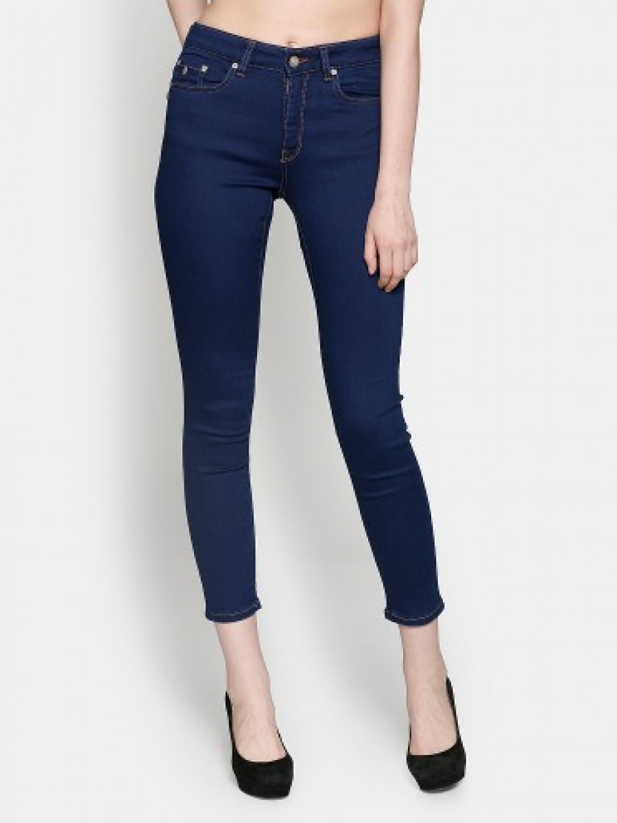 Buy Only Women Dark Blue Super Skinny Fit Jeans Online
