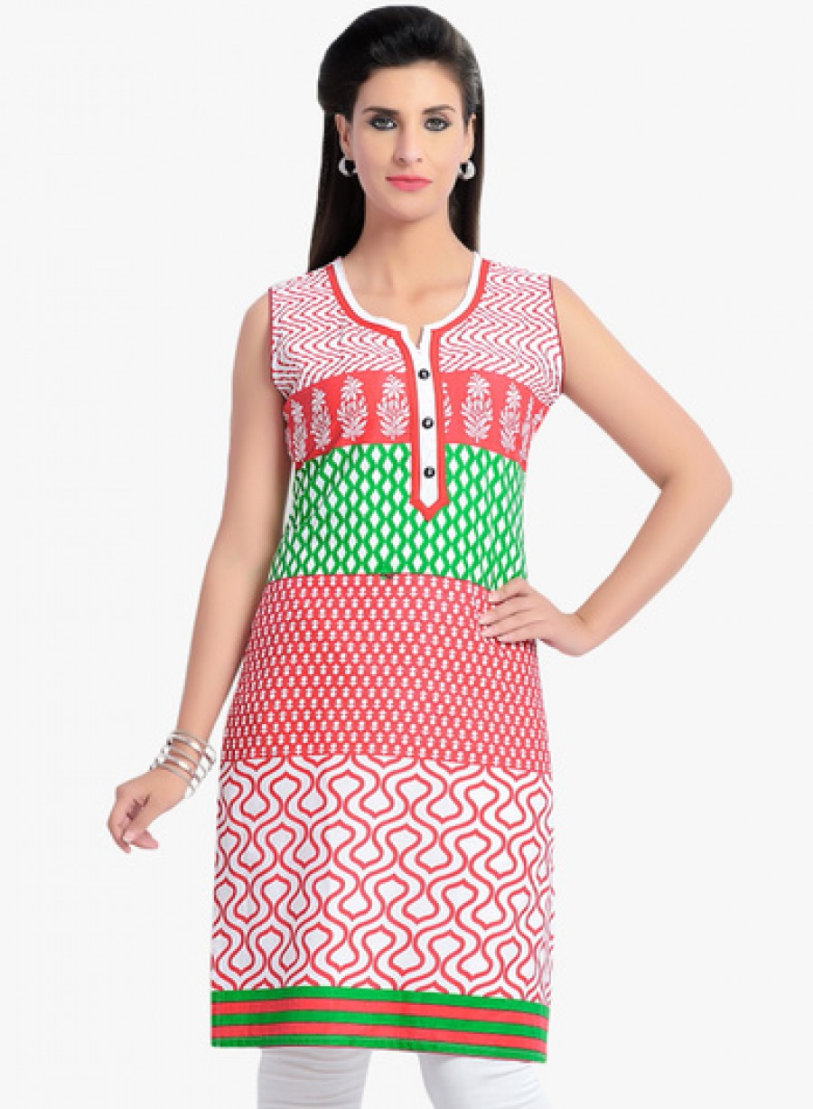 Buy ZOLA Red Printed Kurta Online