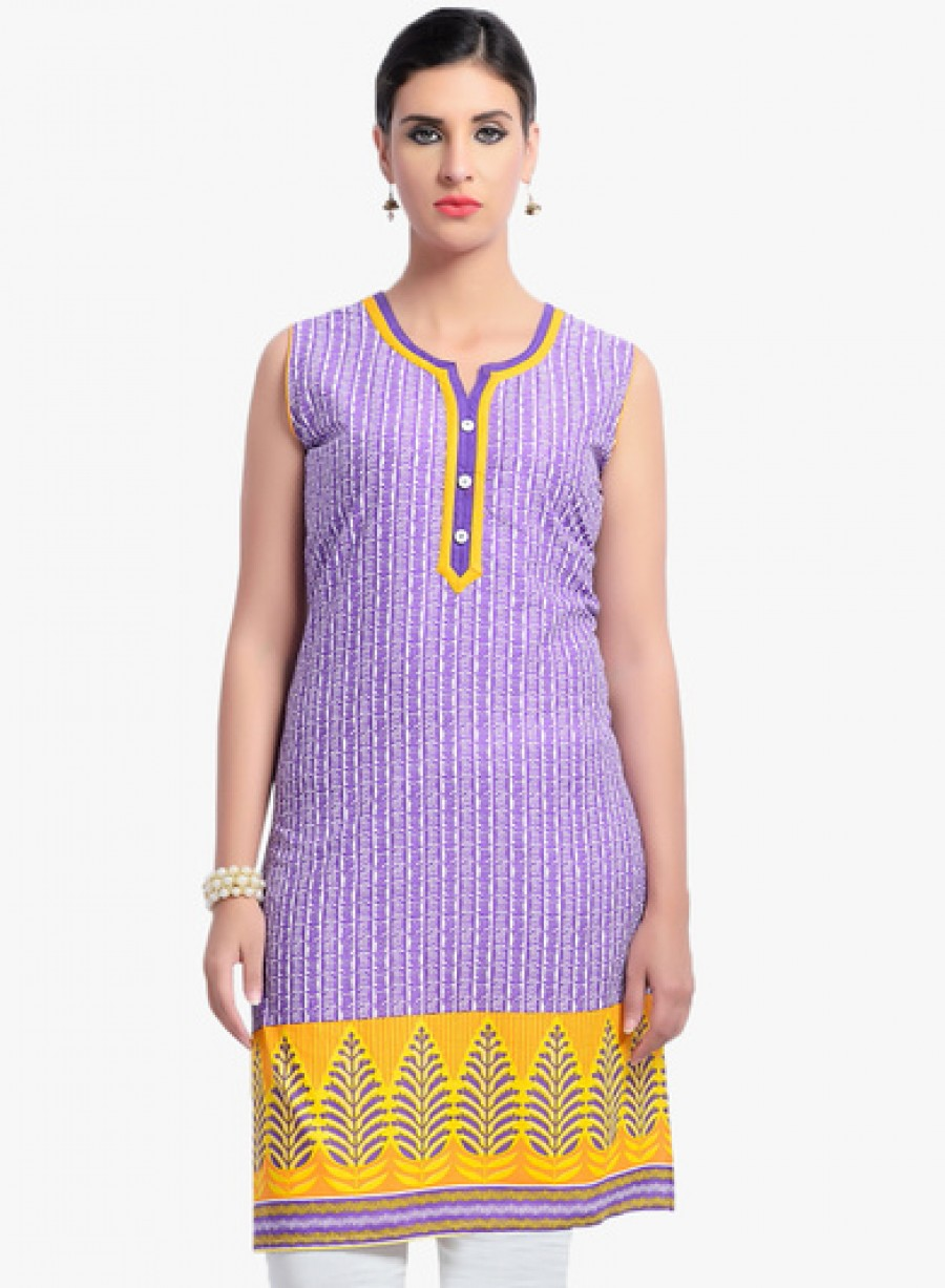 Buy ZOLA Purple Printed Kurta Online