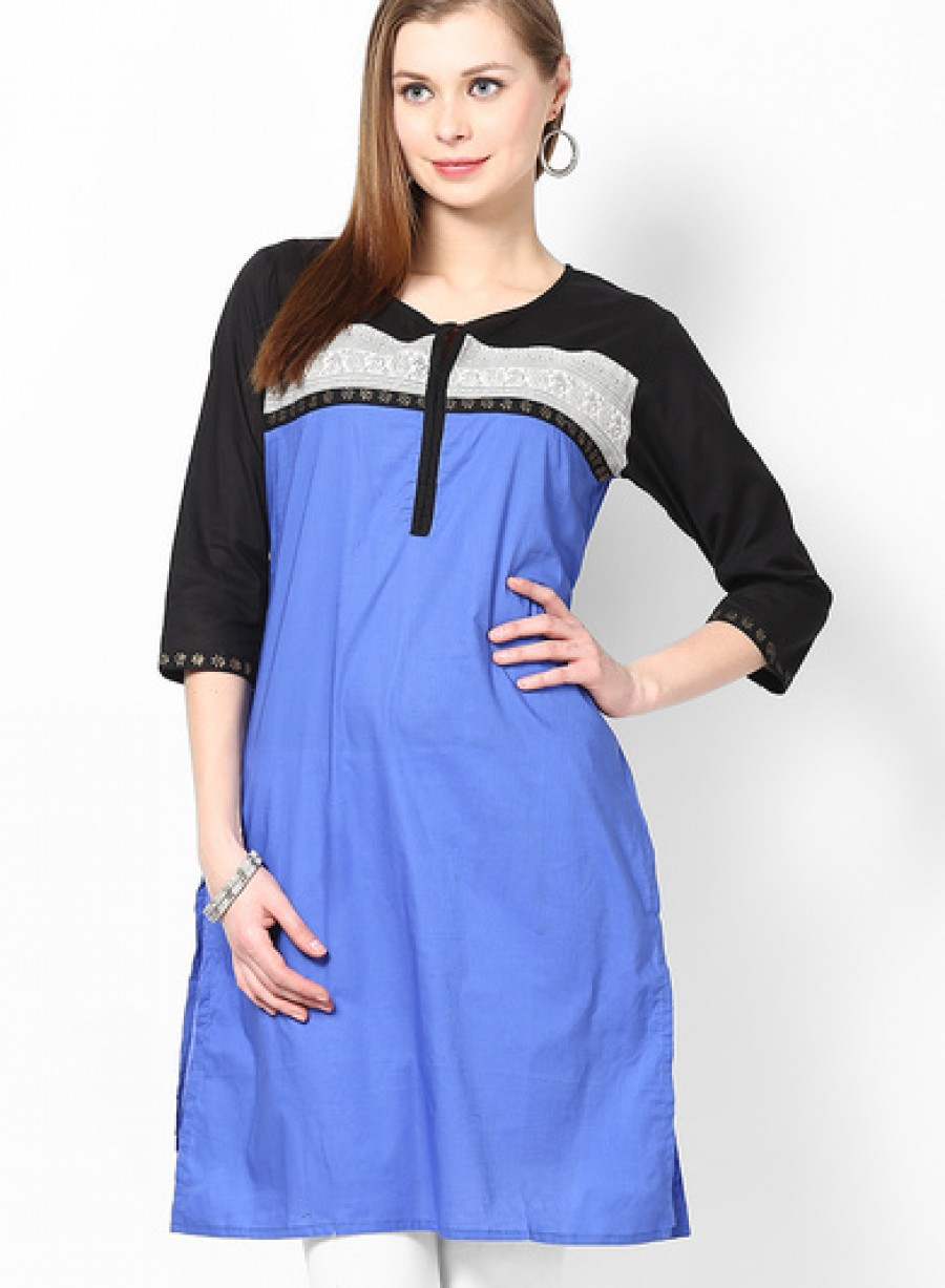 Buy Shree Blue Printed Kurtis Online