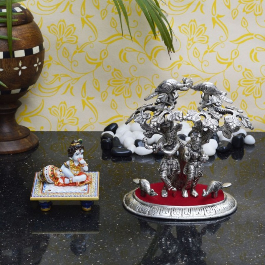 Buy Combo of Laddu Gopal and Radha Krishna Statue Online