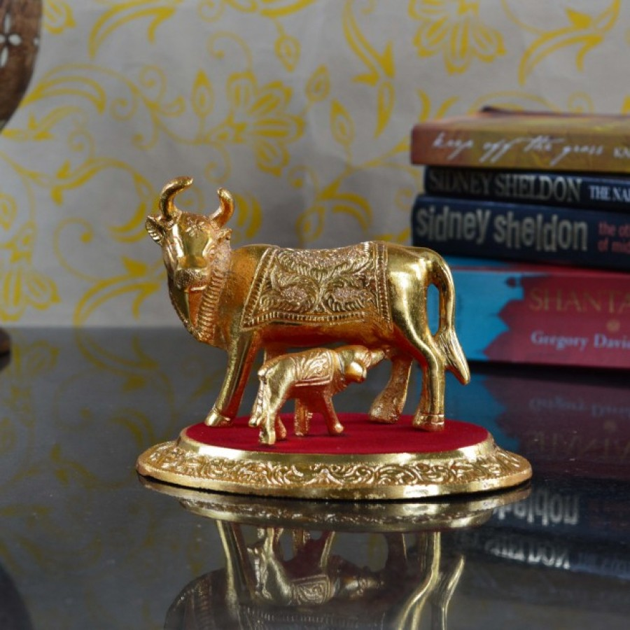 Buy Golden Cow with Calf statue Online